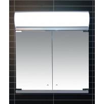 Peilikaappi LED-valaisimella Tammiholma Monza, 60x62cm, 28W, vikavirtasuojakytkin