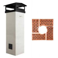 Savupiippu Tiileri T600, 3-12m, varaava, täydellinen toimitus, yksi hormi
