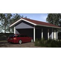 Autokatos seinällä ja eristettävällä varastolla yhdelle autolle. Kerrosala 11 m²