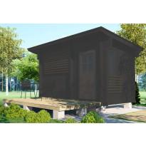 Saunan terassi Moderni, koottu, 7,8m², valmiselementteinä