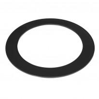 Lasinen integrointikaulus Tulikivi pyöreä, musta