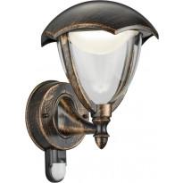 LED-seinävalaisin Trio Gracht, 200x290 mm, rustiikki liiketunnistin