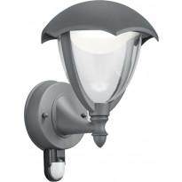 LED-seinävalaisin Trio Gracht, 200x290 mm, antrasiitti liiketunnistin