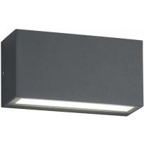 LED-seinävalaisin ulos Trio Trent 50x140x70mm, antrasiitti
