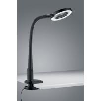 LED-pöytävalaisin Trio Lupo Ø 135x350 mm, musta nipistimellä