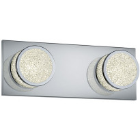 LED-seinävalaisin Trio Clinton, 300x110x85mm, kromi