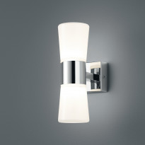 LED-seinävalaisin H2O, 70x130x215mm, 2-osainen, kromi