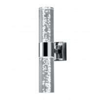 LED-seinävalaisin H2O, 70x120x300mm, 2-osainen, kromi/kupla-akryyli