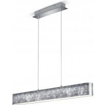LED-riippuvalaisin Trio Lugano, 1000x1500x85 mm, hopea
