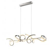 LED-riippuvalaisin Trio Messina 1000x1500x220 mm, harjattu teräs
