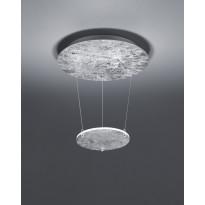 LED-riippuvalaisin Trio Zenit Ø 360x500 mm, hopea