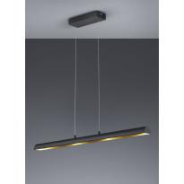 LED-riippuvalaisin Ramiro, 1000x85x1500mm, musta/kulta