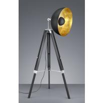 Lattiavalaisin Trio Liege Ø 800x1600 mm, musta/kulta