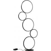 LED-lattiavalaisin Trio Rondo, mattamusta