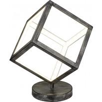 LED-pöytävalaisin Trio Dice, 200x380x200 mm, antiikkiharmaa