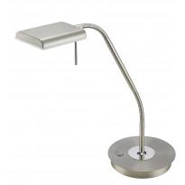 LED-pöytävalaisin Trio Bergamo 205x500 mm, harjattu teräs