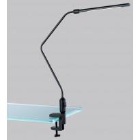 LED-pöytävalaisin Trio Vario LED 3.6W, IP20, 35x645 mm, musta nipistimellä