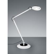 LED-pöytävalaisin Trio Roderic Ø 190x500 mm, valkoinen