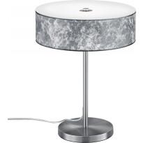 LED-pöytävalaisin Trio Lugano, Ø 300x400 mm, hopea