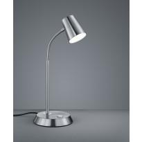 LED-pöytävalaisin Trio Narcos 380x150 mm, harjattu teräs