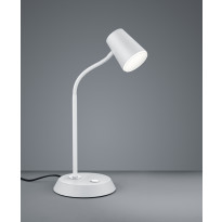 LED-pöytävalaisin Trio Narcos 380x150 mm, valkoinen