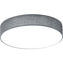 LED-kattovalaisin Trio Lugano, Ø 300x90 mm, harmaa