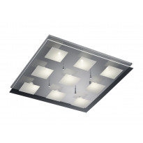LED-kattovalaisin Trio Piazza, 600x600x80 mm, kromi