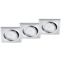 LED-alasvalosarja Trio Rila, 80x34x80mm, IP20, kromi, 3 kpl/pkt