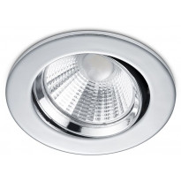 LED-alasvalo Trio Pamir, ø85x54mm, IP23, kromi