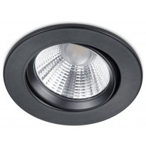 LED-alasvalo Trio Pamir, ø85x54mm, IP23, mattamusta