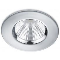 Upotettava LED-alasvalo Trio Zagros, Ø8,5 cm, kromi, IP65
