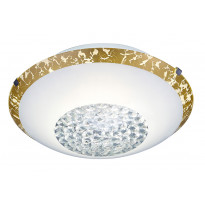 LED-kattovalaisin Trio Comtess Ø250x85 mm, valkoinen/kulta