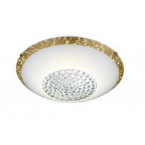 LED-kattovalaisin Trio Comtess Ø300x95 mm, valkoinen/kulta