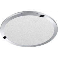 LED-kattovalaisin Trio Cesar, ø600x27mm, IP44, kromi