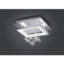 LED-kattovalaisin Trio Dorian 350x350x265 mm, kromi neliö