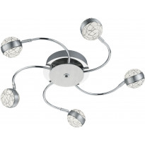 LED-kattovalaisin Trio Portos, Ø 650x95mm, kromi