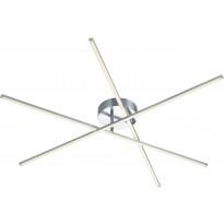 LED-kattovalaisin Trio Tiriac 120x1000x1000mm, harjattu teräs