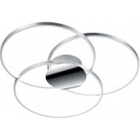 LED-kattovalaisin Trio Sedona Ø800x80mm, harjattu alumiini