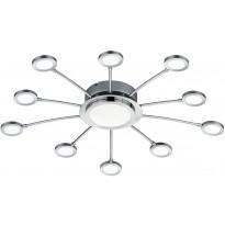 LED-kattovalaisin Trio Bodrum, Ø 650x80mm, kromi