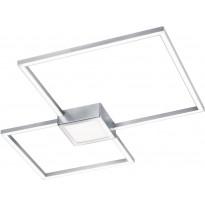 LED-kattovalaisin Trio Hydra 650x50x650 mm, harjattu teräs neliö