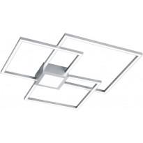 LED-kattovalaisin Trio Hydra, 66x66cm, harjattu teräs, Verkkokaupan poistotuote
