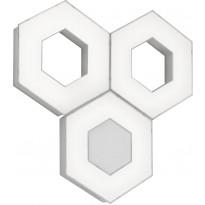 LED-kattovalaisin Trio Solitaire, 3-os., mattavalkoinen, RGB, Verkkokaupan poistotuote