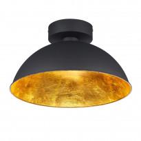 LED-kattovalaisin Romino, Ø400x220mm, musta/kulta
