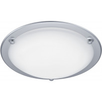 LED-plafondi Trio Pageno, Ø 300x80mm, titaani