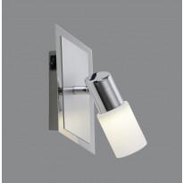 LED-seinäspotti Trio Emilia, 70x160x200 mm, harjattu alumiini
