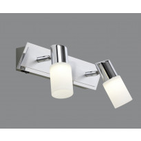 LED-seinäspotti Trio Emilia, 360x70x185 mm, 2-osainen harjattu alumiini