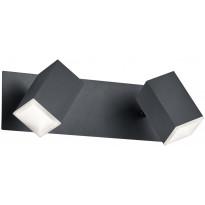 LED-katto/seinäspotti Trio Lagos 90x300x160mm, mattamusta