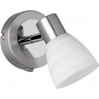 LED-katto/seinäspotti Trio Carico, 90x105x160mm, harjattu teräs