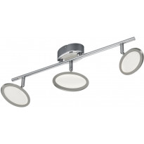 LED-kattospotti Trio Duellant, 525x150x135mm, kromi