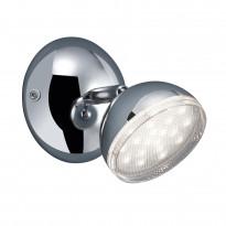 LED-Kattospotti Trio Tondo, Ø 100x130 mm, kromi